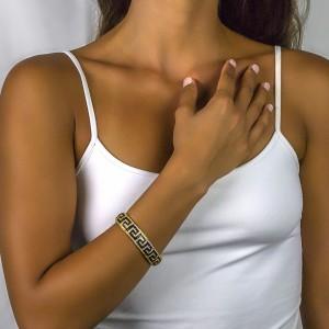 Greca pave bracelet with zircon B383