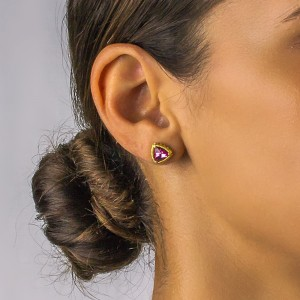 Post earrings with Swarovski crystals S104-2