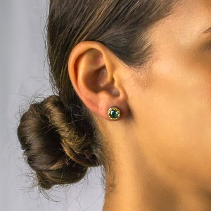 Post earrings with Swarovski crystals S50