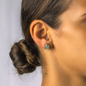 Post earrings with Swarovski crystals S46