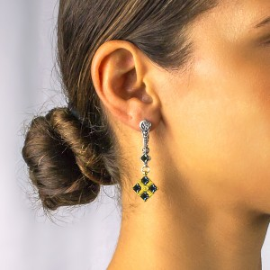Earrings with Swarovski crystals S239