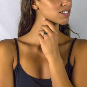 Ring with Swarovski crystal D51