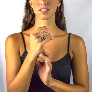 Ring with Swarovski crystal D177