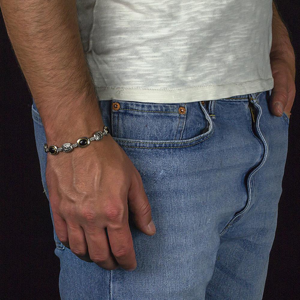 Bracelet with black onyx B117