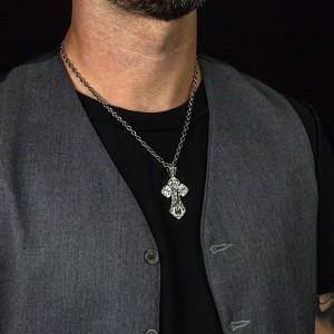 Sterling silver locket cross C189