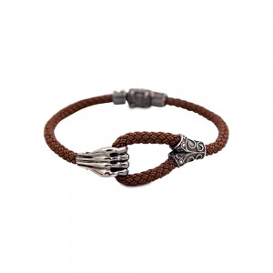 Sterling silver bracelet with rubber B20