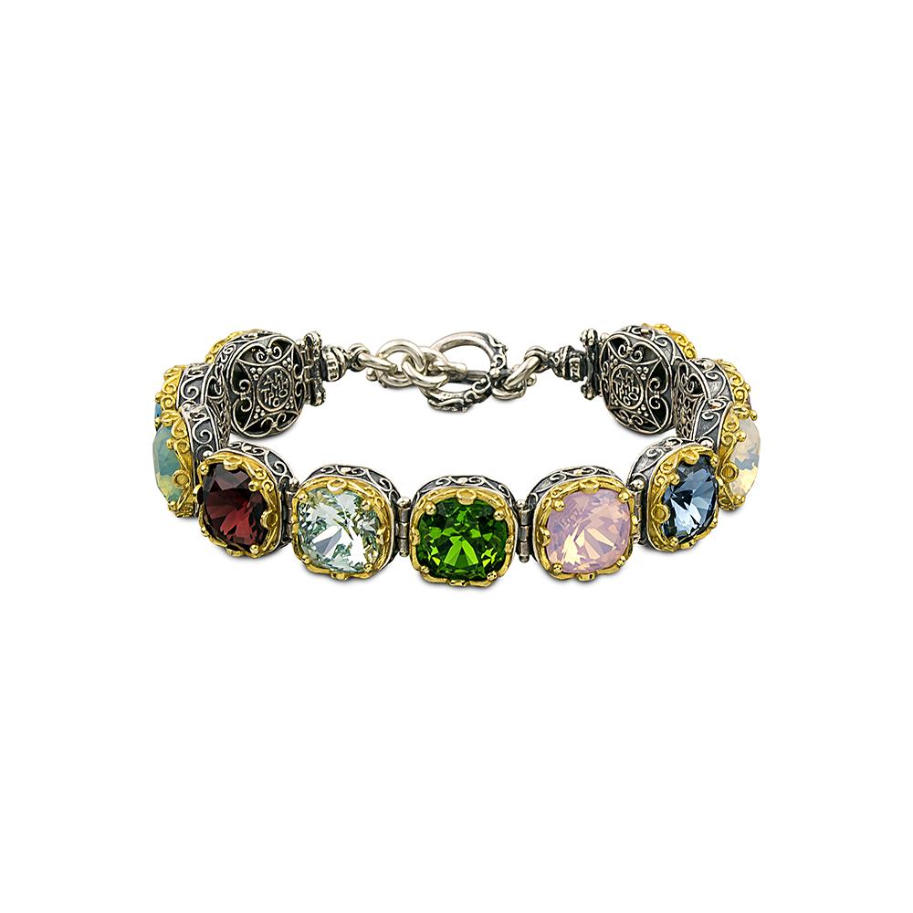 Bracelet with multicolor Swarovski crystals B290