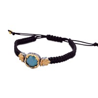 Cord bracelet with Swarovski crystal B435