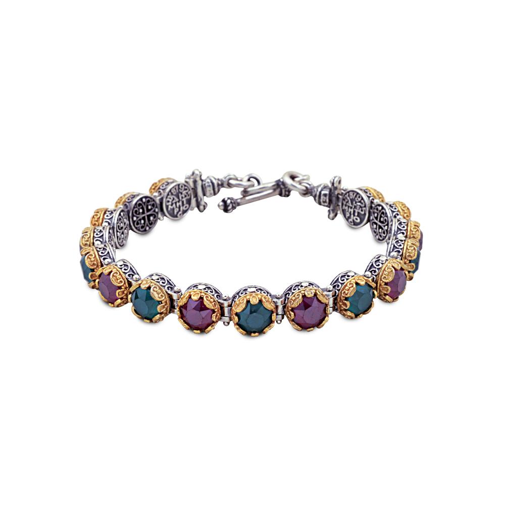 Bracelet with Swarovski crystals B50
