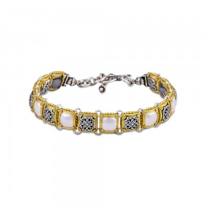 Reversible bracelet with Swarovski crystals B89