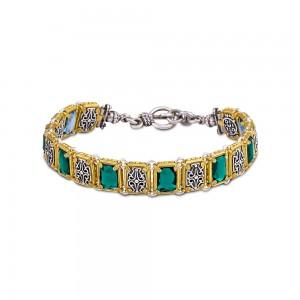 Reversible bracelet with Swarovski crystals B92-1