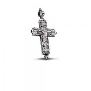 Sterling silver locket cross C167