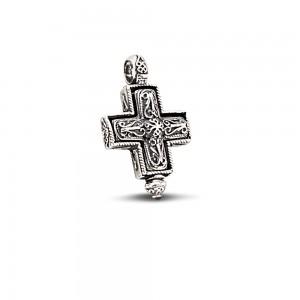 Sterling silver locket cross C197
