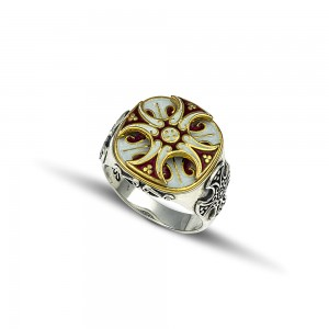 Ring with enamel D233