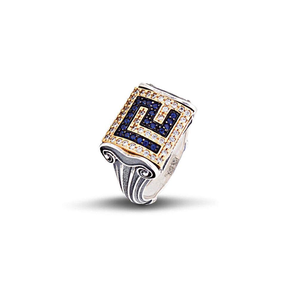 Greca pave ring with zircon D328