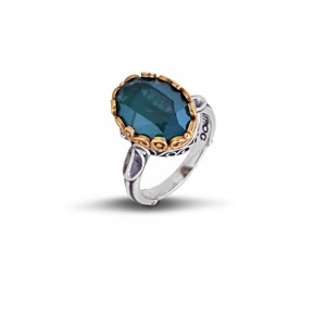 Oval ring with Swarovski crystal D52