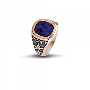 Ring with Spartan Warrior D78