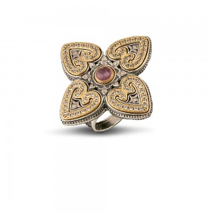 Ring with zircon and gemstone D86