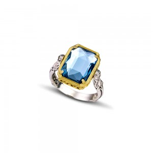 Reversible ring with Swarovski crystals D 92