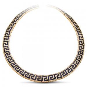 Greca Pave necklace with zircon K293