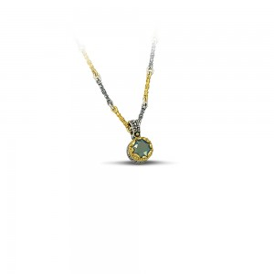 Pendant with Swarovski crystal & Tricolor chain M50