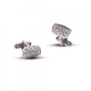 Sterling silver cuff-links MA6