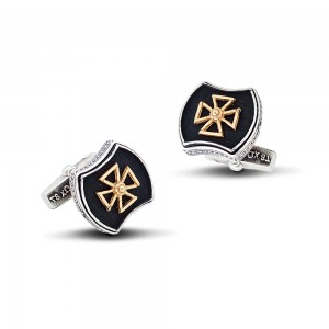 Sterling silver cufflinks with cross MA62