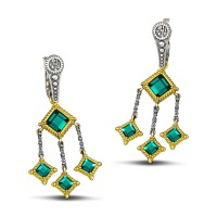 Earrings reversible with Swarovski crystals S103-1
