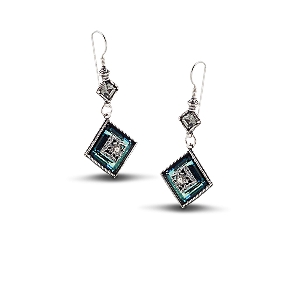 Earrings with Swarovski crystals S138