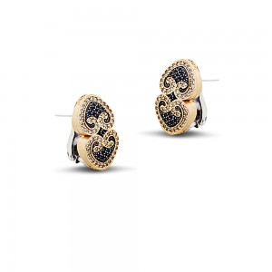Earrings with zircon stones S250