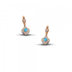 Earrings with semipricious stones S57