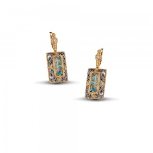 Earrings with turquoise gemstones S79