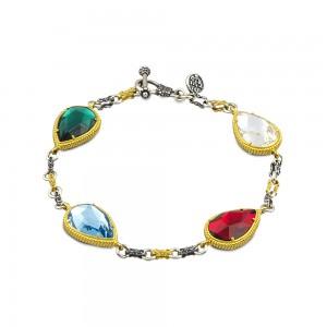 Reversible bracelet with multicolor Swarovski crystals B131