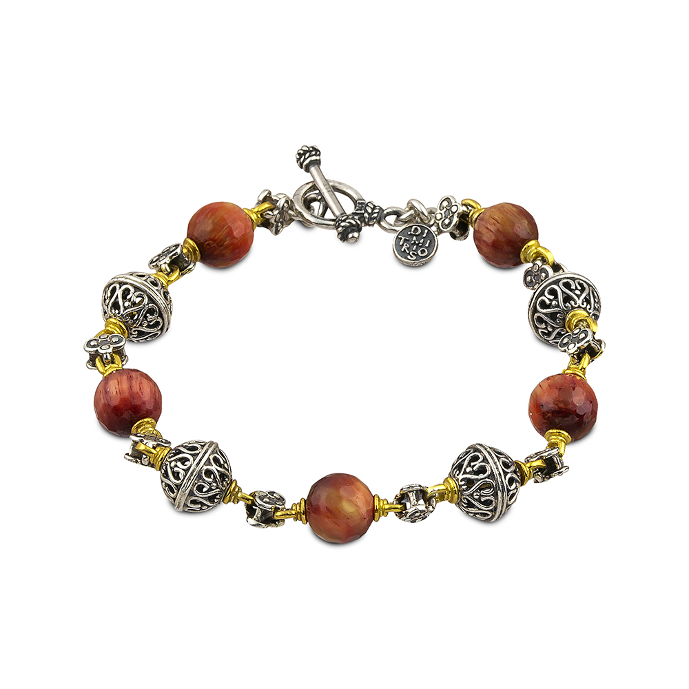 Bracelet with mineral stones B120-4