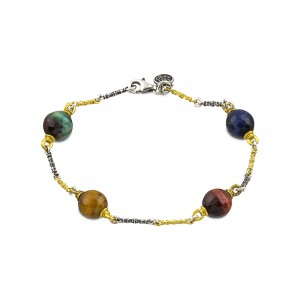 Bracelet with mineral stones B120-6