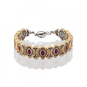 Bracelet with precious stones B338