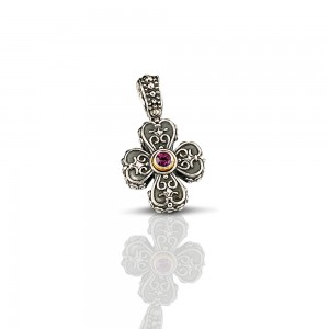 Cross with Swarovski crystals C17-1