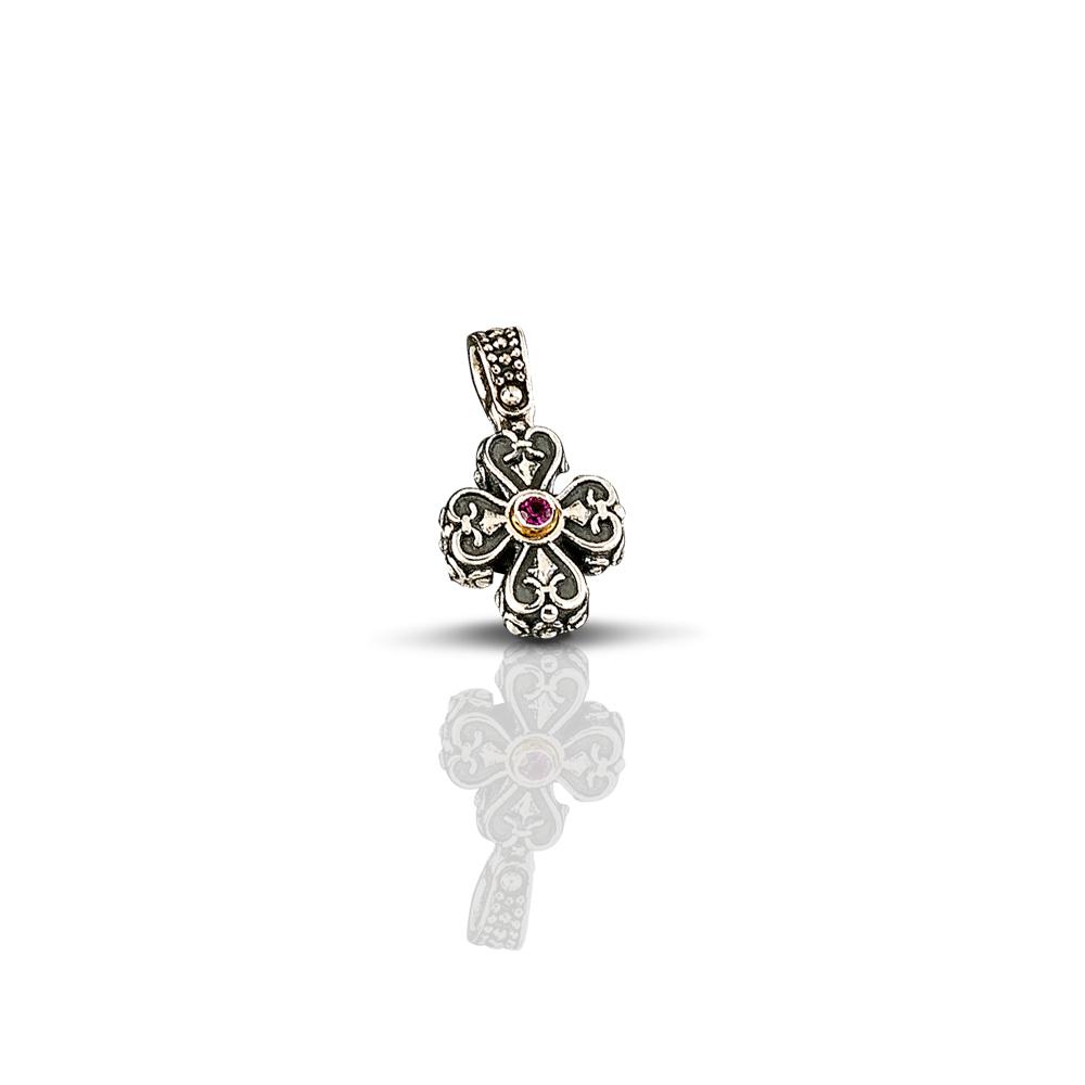 Cross with Swarovski crystals C17