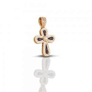 Cross with zircon stones C245