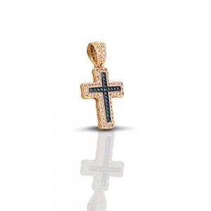 Cross with zircon stones C246