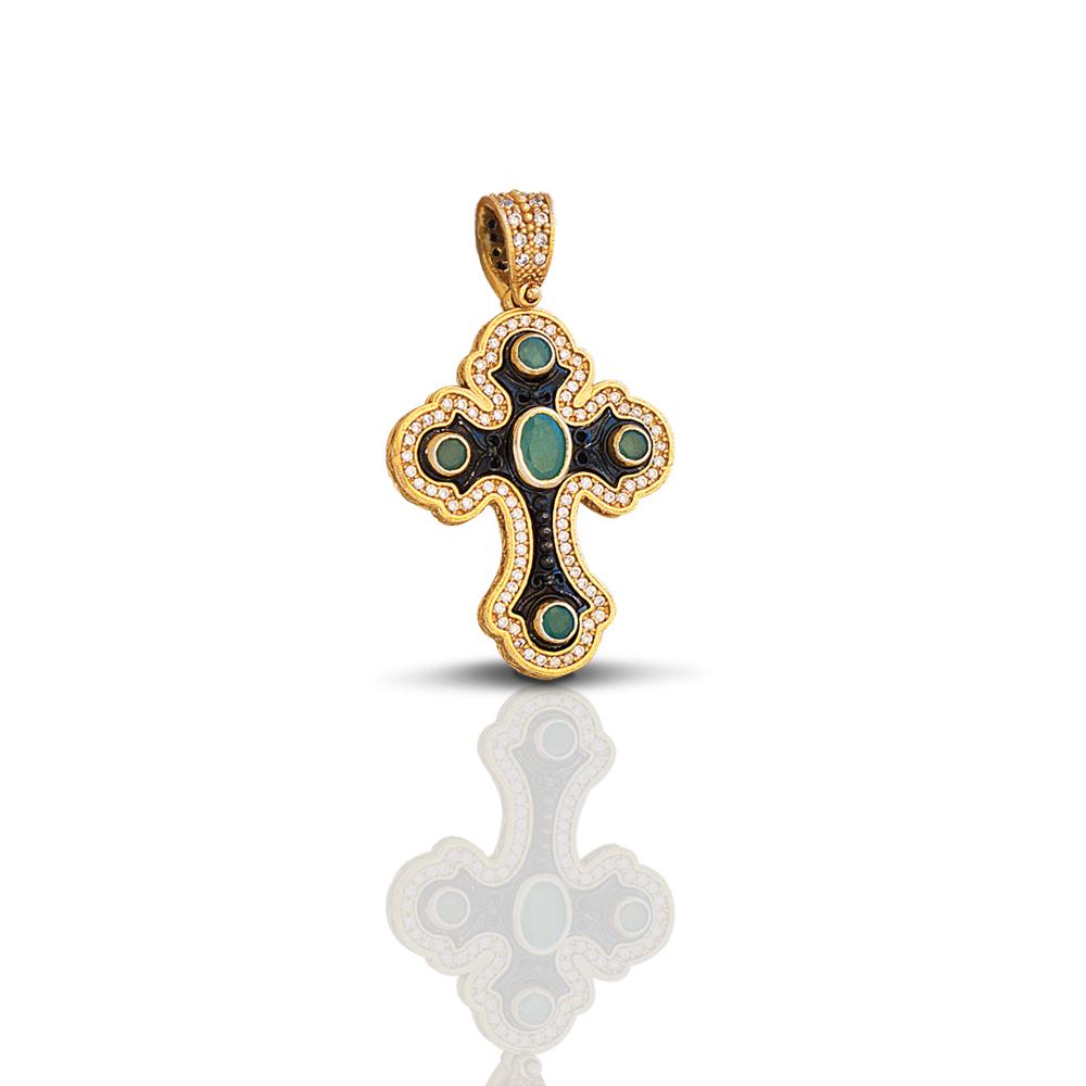 Cross with precious stones C252