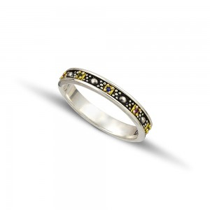 Silver gold wedding rings D127