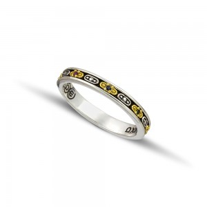 Silver gold wedding rings D124