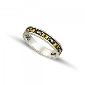 Silver gold wedding rings D125