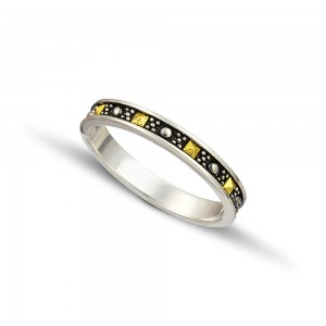 Silver gold wedding rings D127A