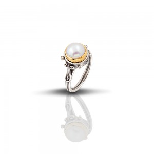 Ring with pearl D265
