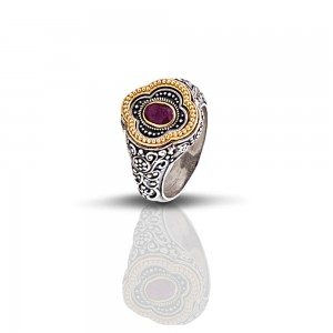 Ring with semiprecious stone D292