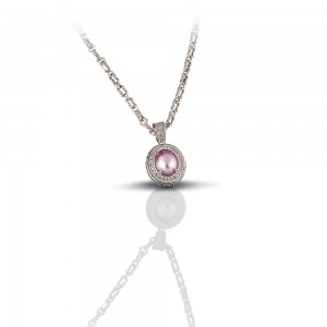 Pendant with pearl and zircon M84