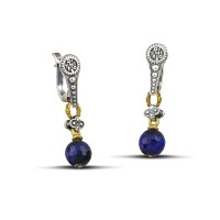Earrings with mineral stones S120-6A